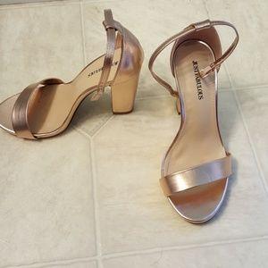 Rose gold high heels, justfabulous